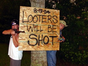 keep looters out
