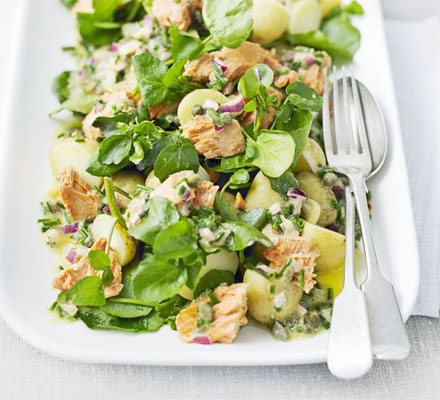 salmon and potatoe salad