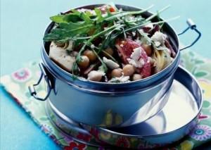 Artichoke and chickpea salad