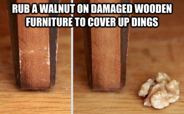 Cover up dings on furniture