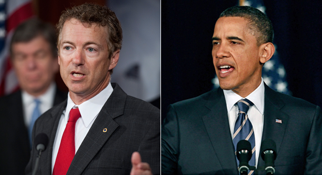 Rand Paul vs. Obama. Who`s winning the war
