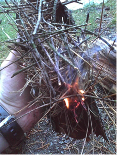 how to make a fire in the wilderness without matches