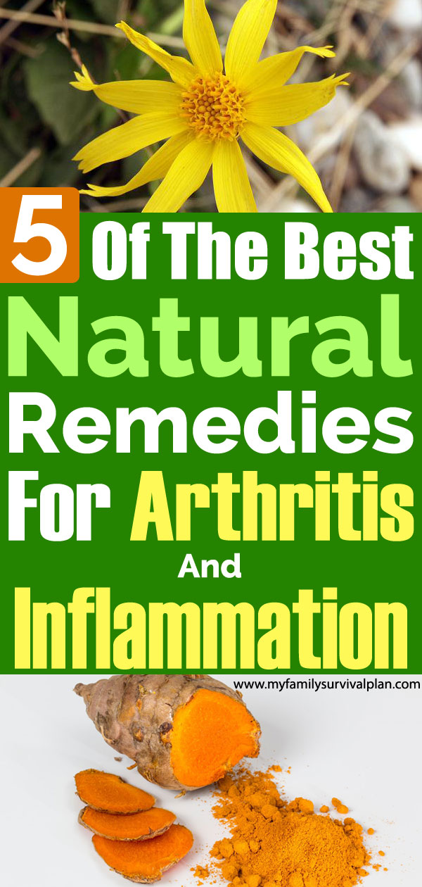 Five Of The Best Natural Remedies For Arthritis And Inflammation