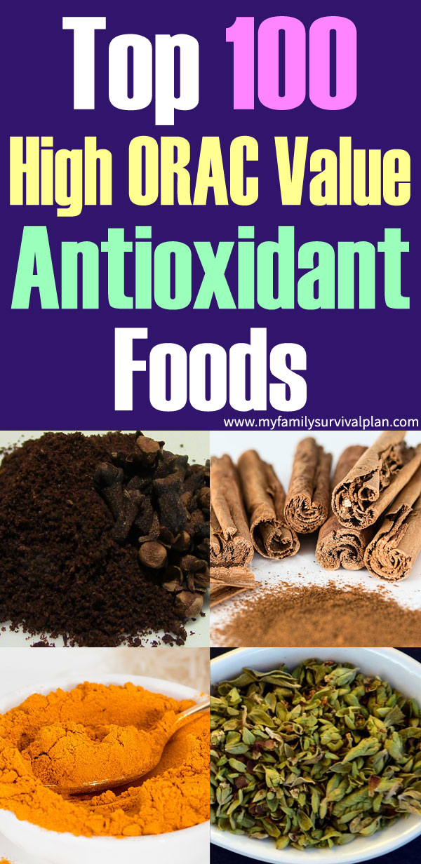 Top 100 High ORAC Value Antioxidant Foods