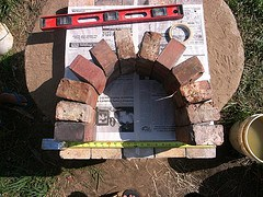 Making a Brick Arch Doorway and Cob Dome1