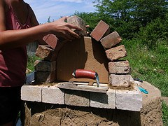 Making a Brick Arch Doorway and Cob Dome2
