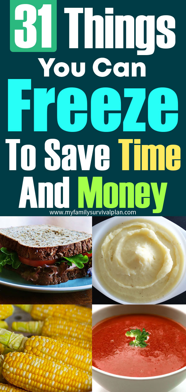 31 Things You Can Freeze To Save Time And Money