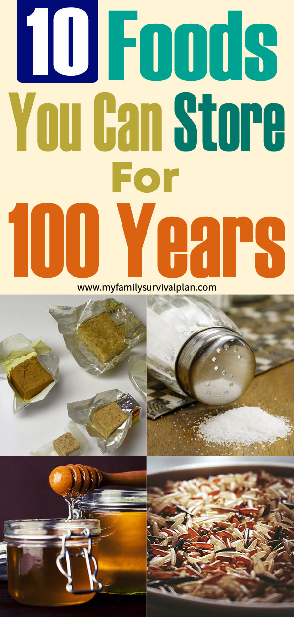 10 Foods You Can Store For 100 Years