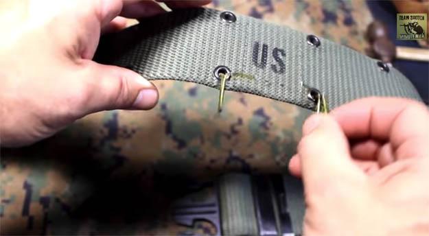 Pistol belt hanger