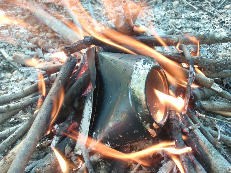 Make char cloth for flint and steel