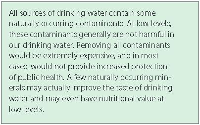 Water contaminants