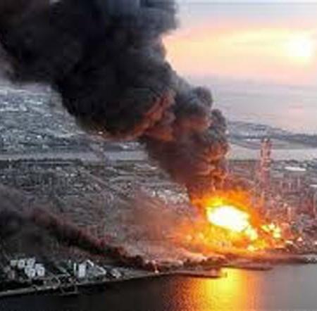 Reactors exploding in Fukushima
