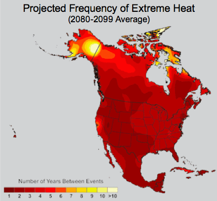 extreme heat map