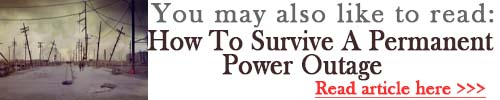 How To Survive A Permanent Power Outage