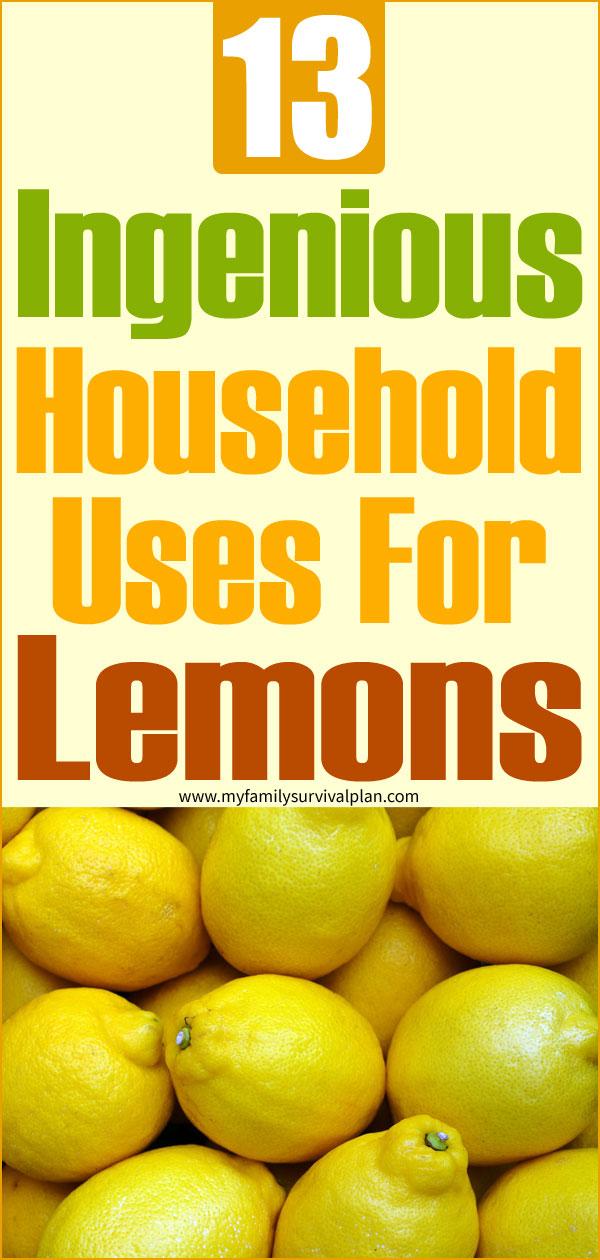 13 Ingenious Household Uses For Lemons