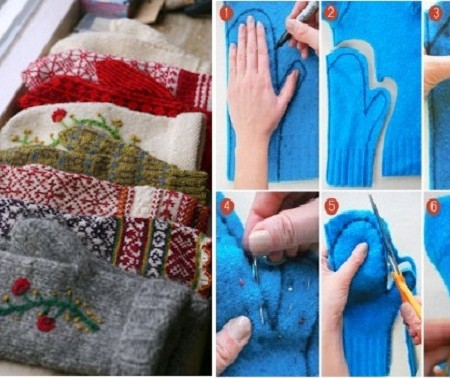 How to Make Sweater Mittens