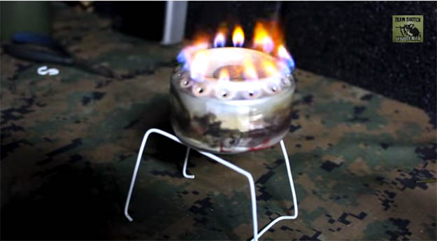Penny stove stand